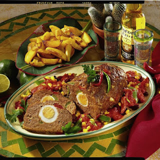 Southwest Meatloaf with Potatoes and Salsa.