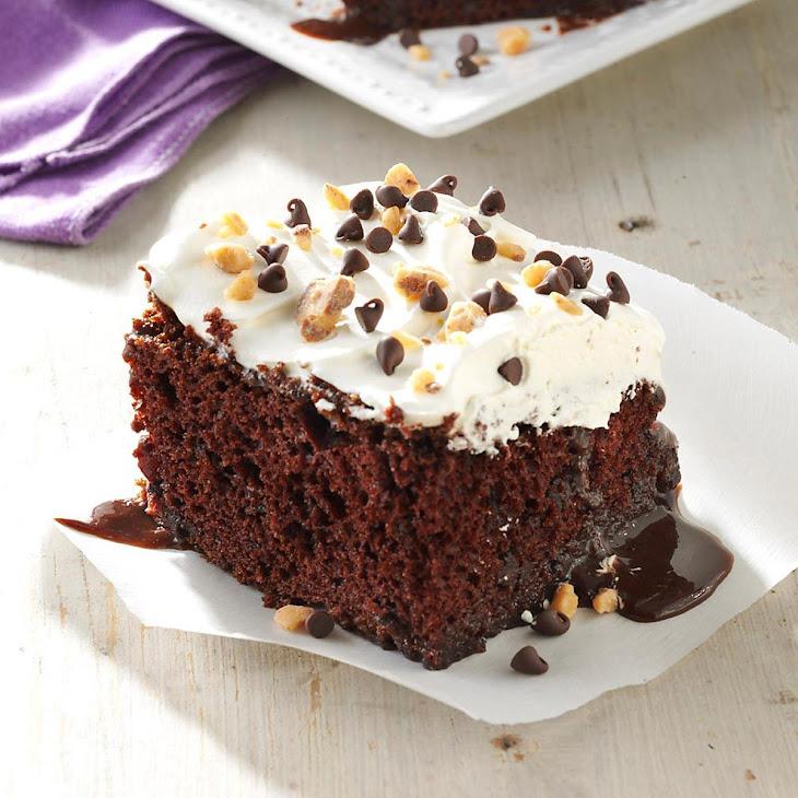 Caramel-Fudge Chocolate Cake Recipe