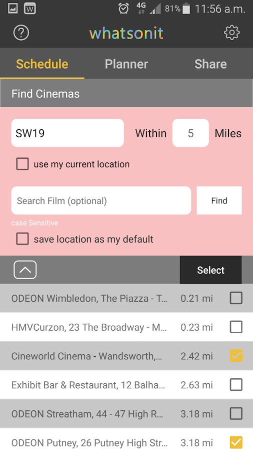 Whatsonit- screenshot
