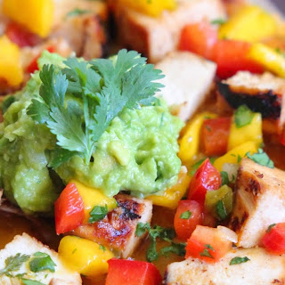 Grilled Cilantro Lime Chicken Flatbread Pizza