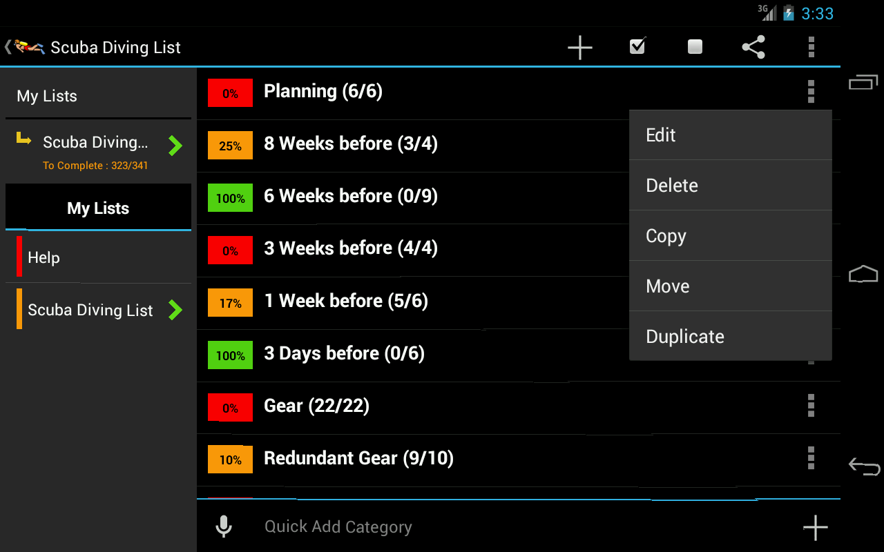 Scuba Diving Planner- screenshot