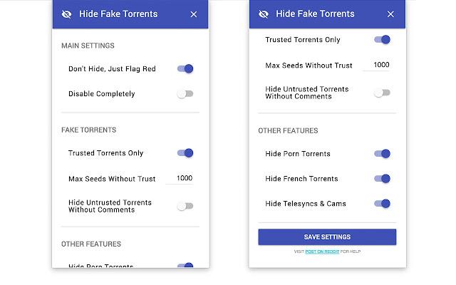 Hide Fake Torrents on TPB