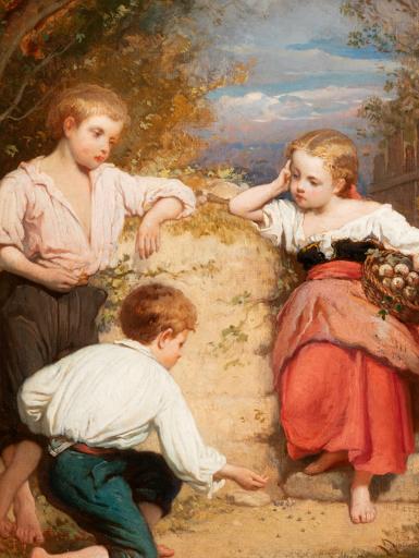 Amédée Ternante-Lemaire Enfants dans un parc