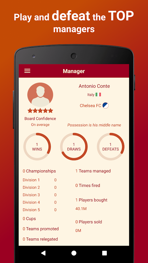 Screenshot 4 Be the Manager 2018 - Football Strategy 2.2.3 APK MOD