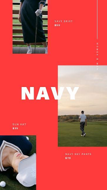 Navy Sky - Video template