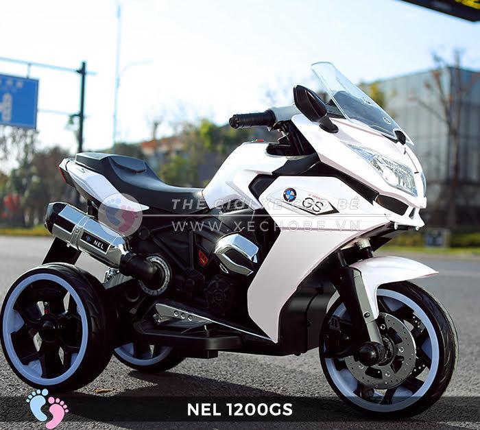 xe mô tô điện 3 bánh cho bé NEL 2100