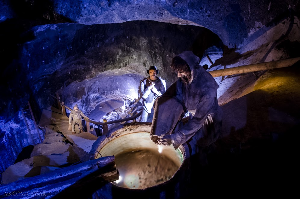 Соляная шахта в Величке и каторжники
