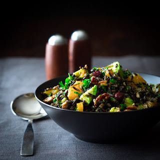 Wild Rice Salad With Cranberries Apricots And Avocado