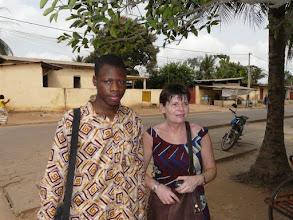 Photo: Sylvain , un autre filleul étudiant en agronomie, vient juste d'obtenir sa licence avec mention Bien