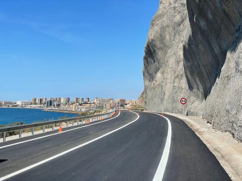 Carretera de El Cañarete, que une la capital con Aguadulce.