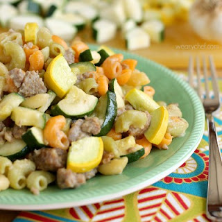 Skillet Pasta with Summer Vegetables