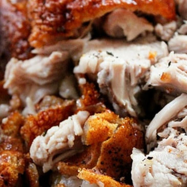 Super Crispy-Skinned Slow-Roasted Pork Shoulder Recipe