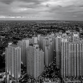 Central Park by Miko Adji - Black & White Buildings & Architecture ( 2015, indonesia, apartment, jakarta, miko, central park, mall )