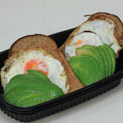 Avocado & Egg 'Toad in the Hole'