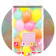 Small fresh full-screen balloons theme APK