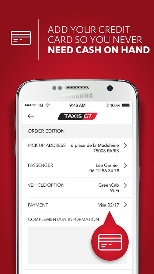 taxis g7 personal paris android apps on google play. Black Bedroom Furniture Sets. Home Design Ideas