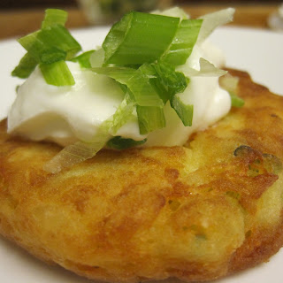 Fully Loaded Mashed Potato Pancakes