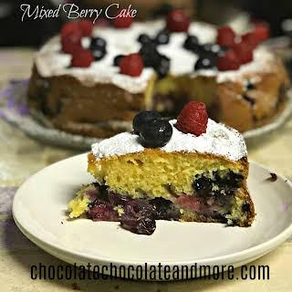 Mixed Berry Cake.