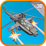 Military Helicopter 3D Icon