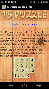 15 Puzzle Wooden Free- screenshot thumbnail