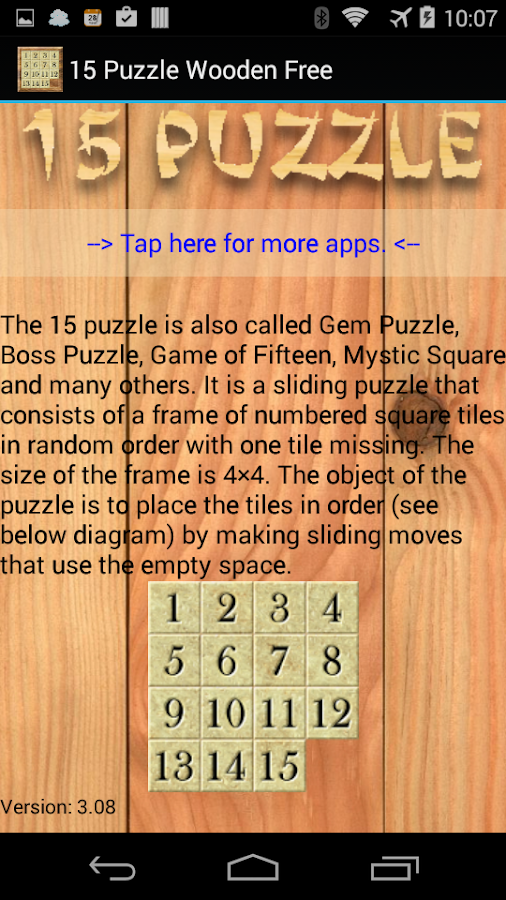 15 Puzzle Wooden Free- screenshot