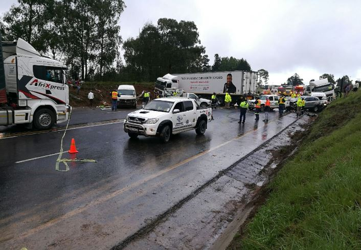 Massive accident shuts N3 freeway between Joburg and Durban