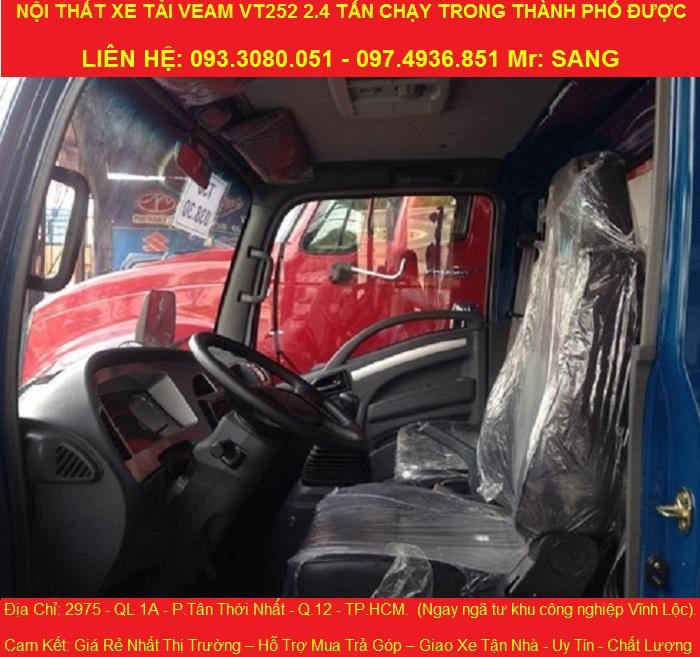 Nội thất xe tải veam vt252.jpg