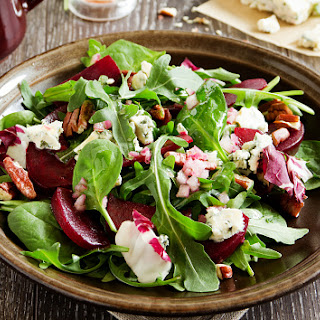 Balsamic Beet and Goat Cheese Salad.