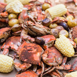 Steamed Maryland Blue Crabs.