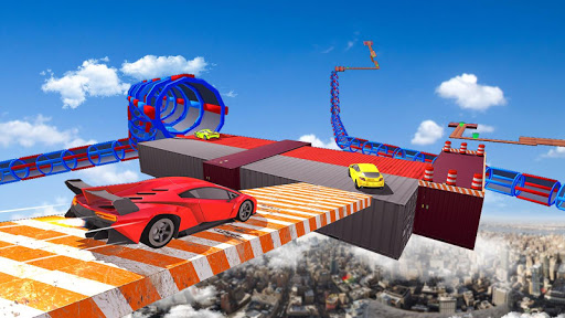 Impossible Tracks Car Stunts Driving: Racing Games apkslow screenshots 6