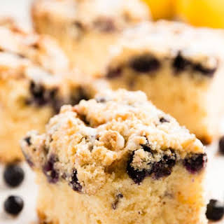 Lemon Blueberry Sour Cream Coffee Cake.