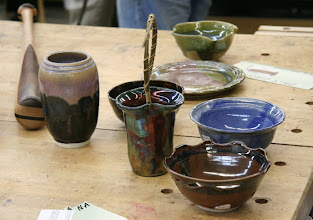 Photo: ...and a much better view of Sally's marvelous pottery.