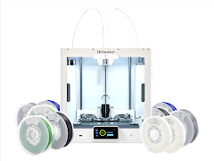 Ultimaker S5 Dual Extrusion 3D Printer Engineering Bundle - with Extended Enhanced Service Plan (3 Years of Warranty Protection)