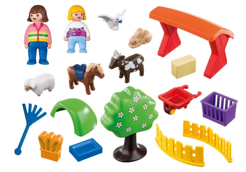 Contenido real de Playmobil® 6963 Recinto de Animales