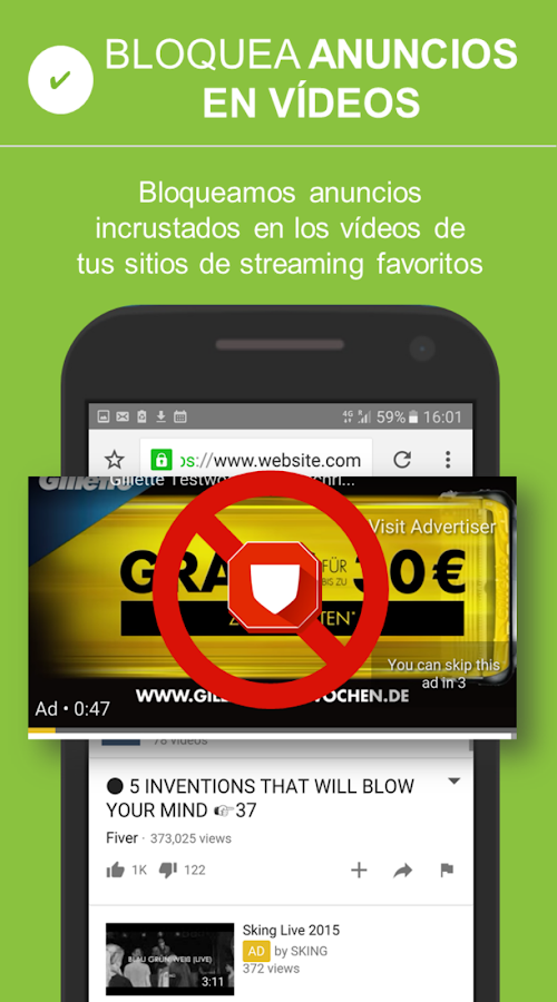 Adblocker Browser Gratis: captura de pantalla