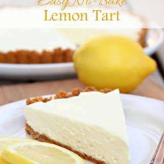 Easy No-Bake Lemon Tart.