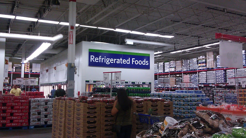 Photo: Headed into the refrigerated section.