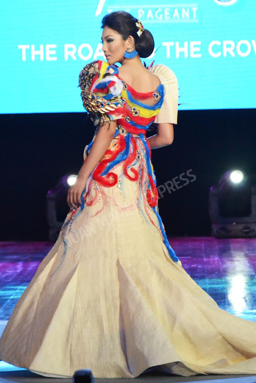 BB. PILIPINAS 2016 CANDIDATE NO. 33 LEONALYN DELA CRUZ DRESSED BY DANIEL MANILA FOR THE NATIONAL COSTUME COMPETITION