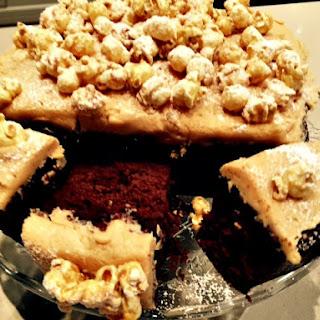 Popcorn & Peanut Butter Choc Cake
