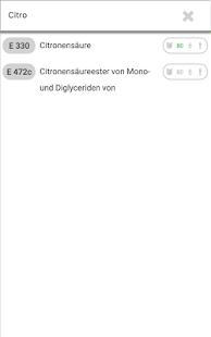 E-Nummern-Finder Screenshot