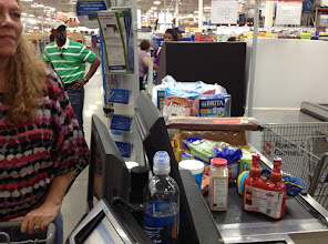 """Photo: As you can see, we got a few """"extra"""" things on our shopping trip. At least we saved money going to Sam's."""