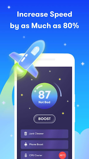 UFO Cleaner : Junk Clean + Task Killer & Booster screenshot 1