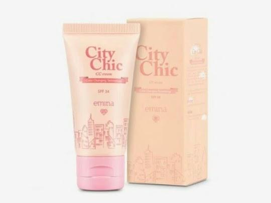 City Chic Cc Cream Light Natural EMINA memutihkan flek krim wajah melembabkan menghaluskan kulit
