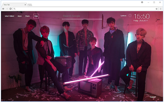 Monsta X Wallpapers HD New Tab K-pop Themes