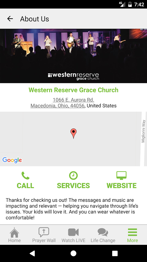 Western Reserve Grace Church- screenshot