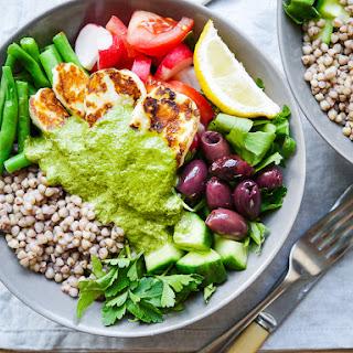Mediterranean Halloumi Buckwheat Nourish Bowls