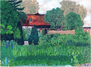Photo: Garten am Pfarrhaus Dargun in Mecklenburg 1944  Bild von Hilde für Adelheid