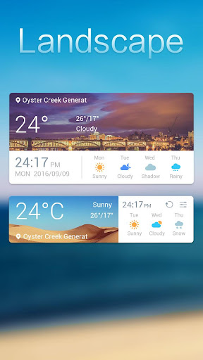 Landscape Weather Widget Theme Screenshot