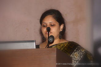 Photo: Ms. Roshni Rao, the compere.