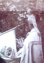 Photo: 1940.05.29 Tiszaszentimre bérmálás, 500 fő bérmálkozott, zászlószentelés
